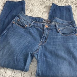 Mother Skinny Not Skinny Ankle Crop Jeans
